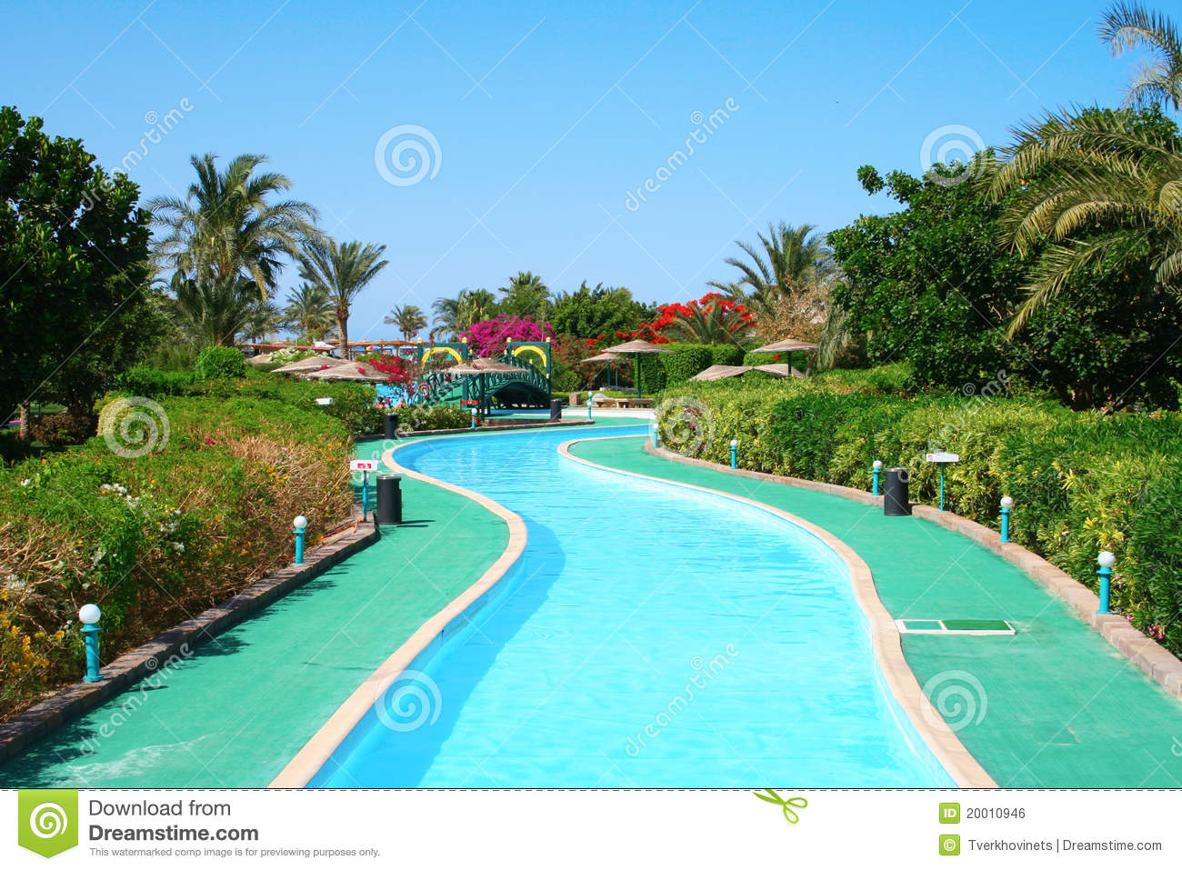 Long Swimming Pool At The Hotel Royalty Free Stock Image Image 20010946