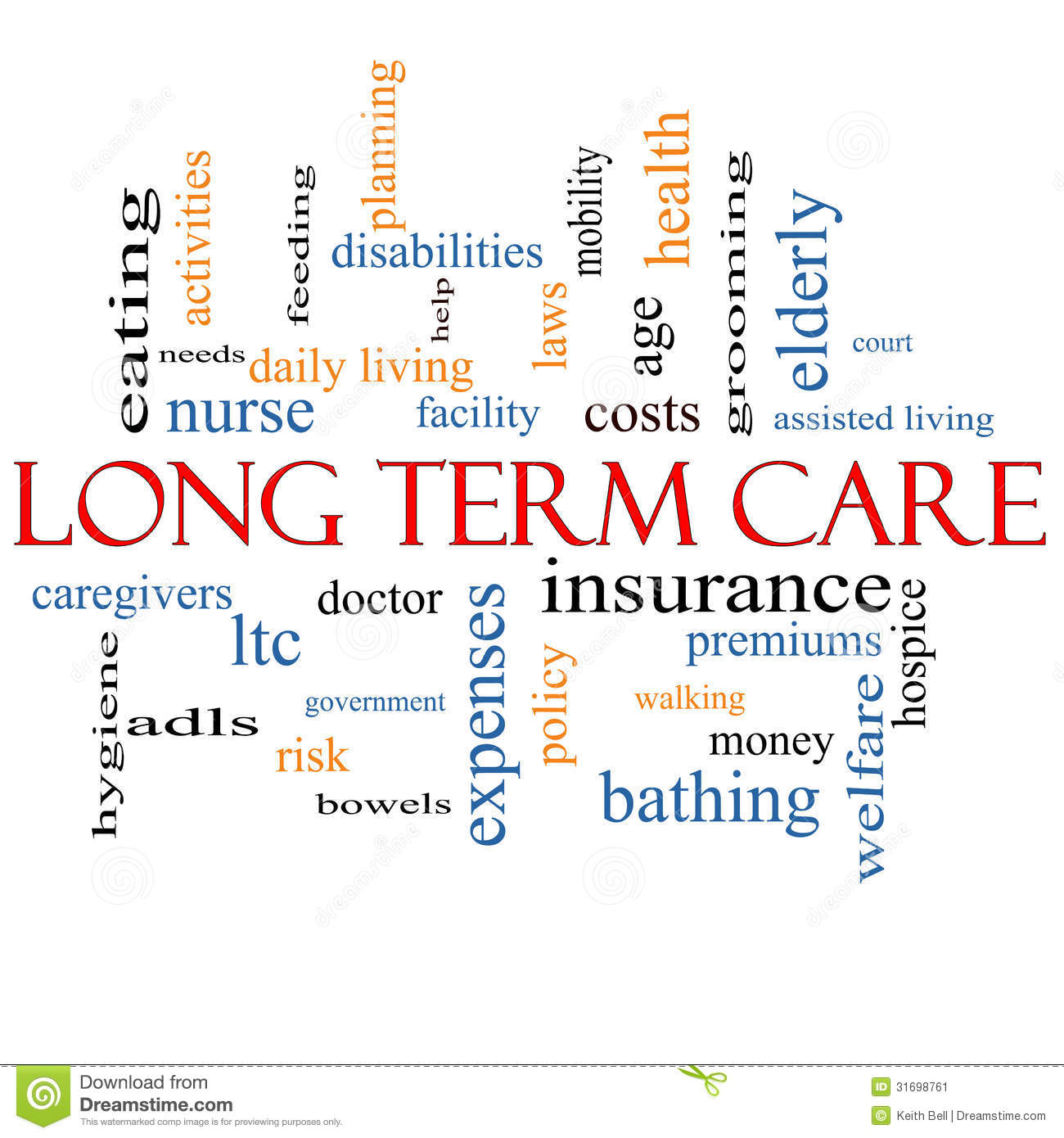 Long Term Care Word Cloud Concept Stock Image Image