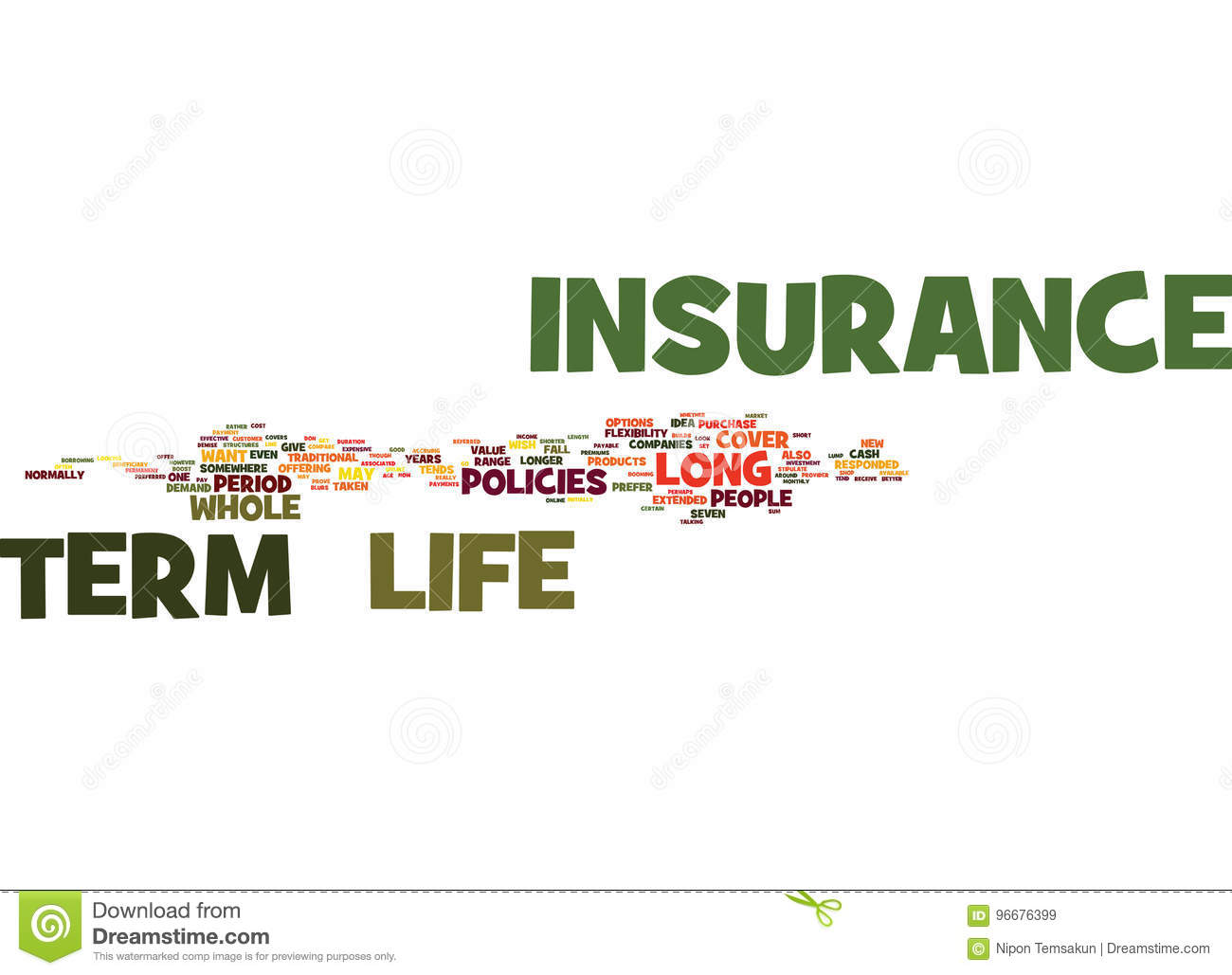 Long Term Life Insurance Why Get It Text Background Word ...