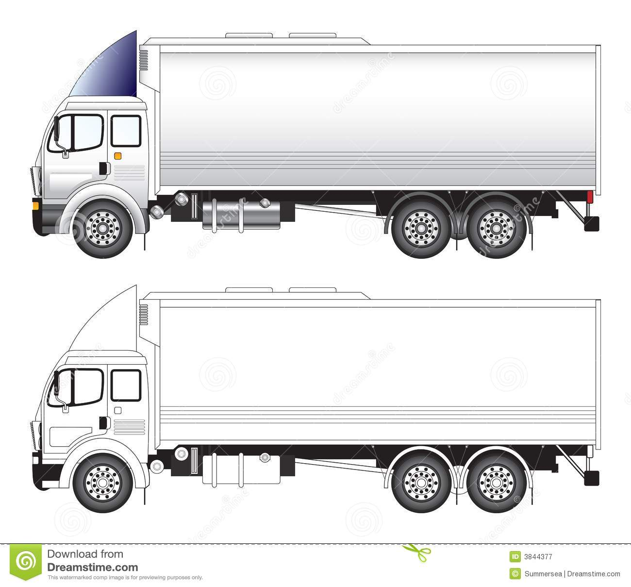 Long Truck Vector Illustration Royalty Free Stock