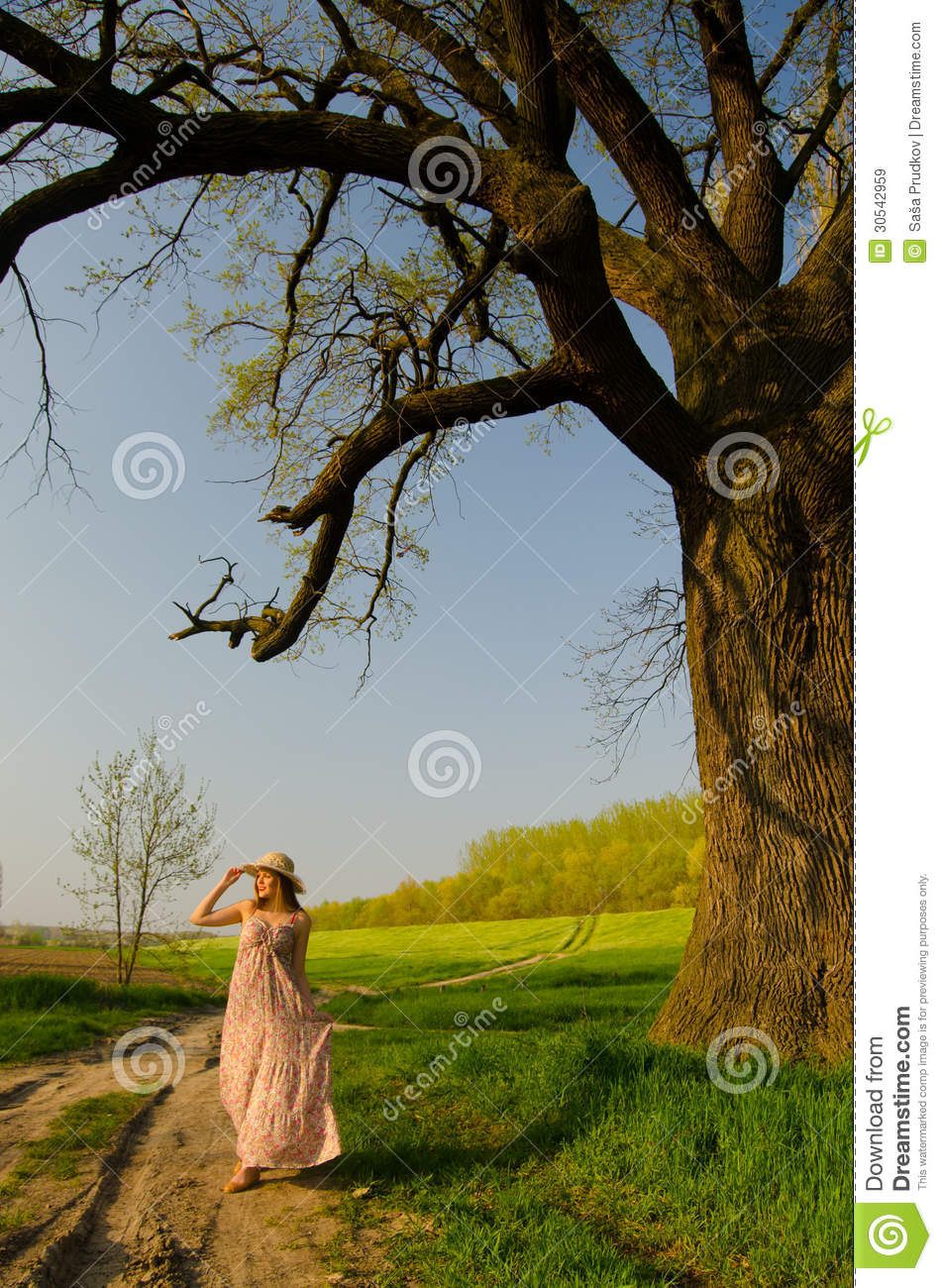 Long Walk On Countryside Stock Image Image Of Beauty