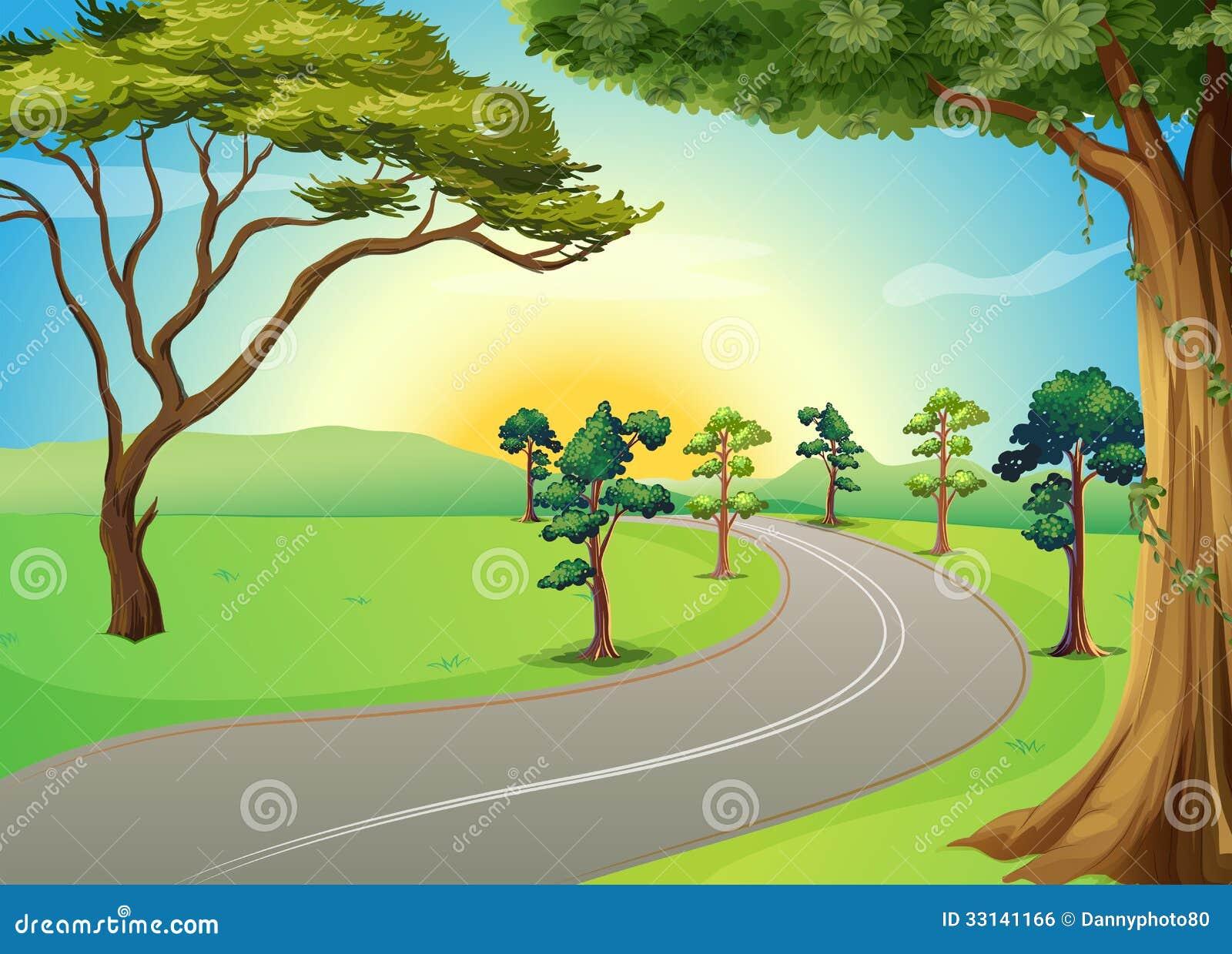 Winding Path Illustration A Long Winding Road At...