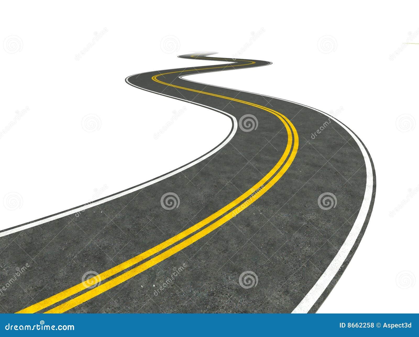 Winding Path Illustration Long Winding Road Illu...