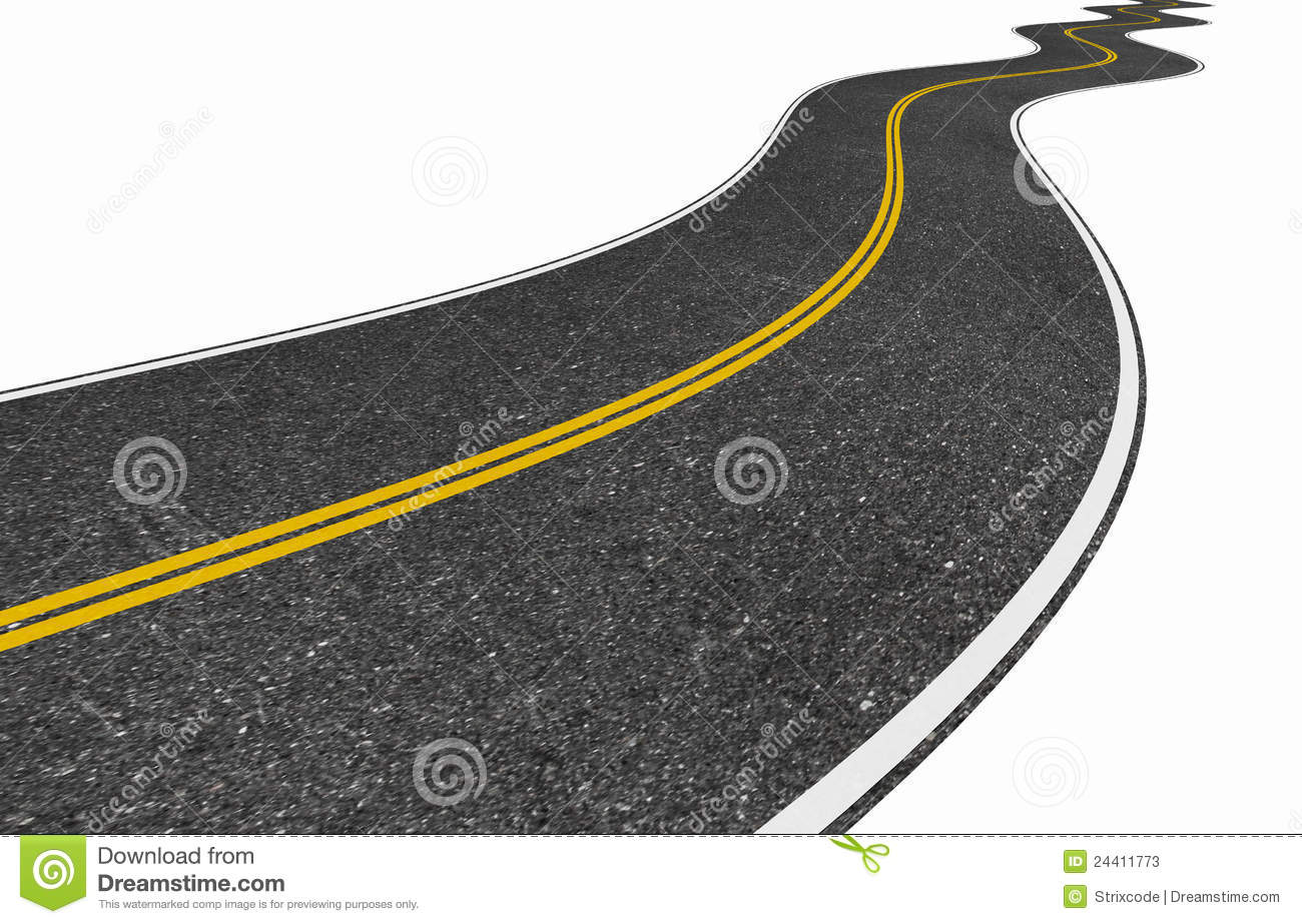 Long Winding Road Isolated On White Stock Illustration ...