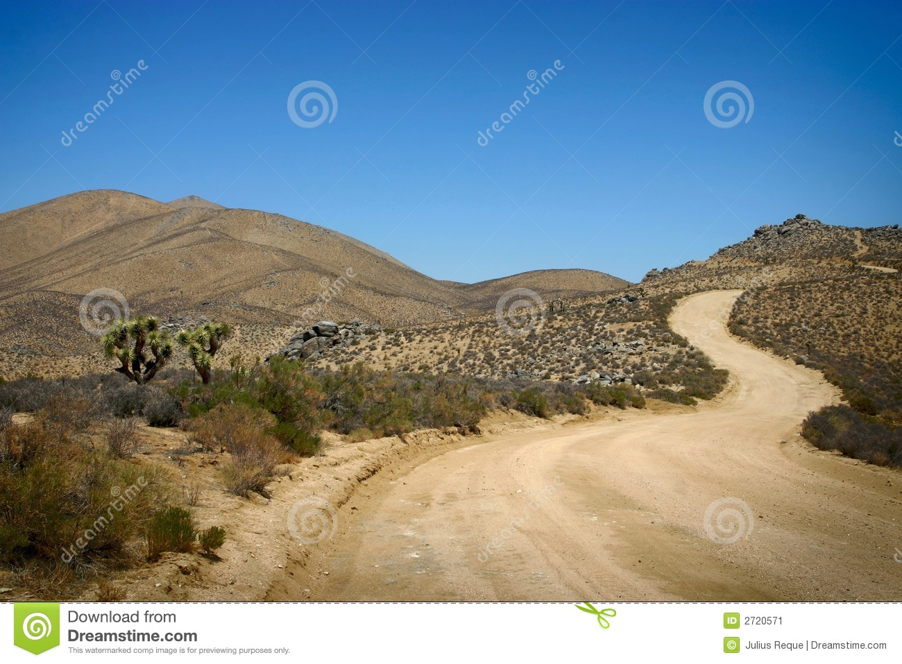 Long, Windy Road On The Desert Stock Image - Image: 2720571