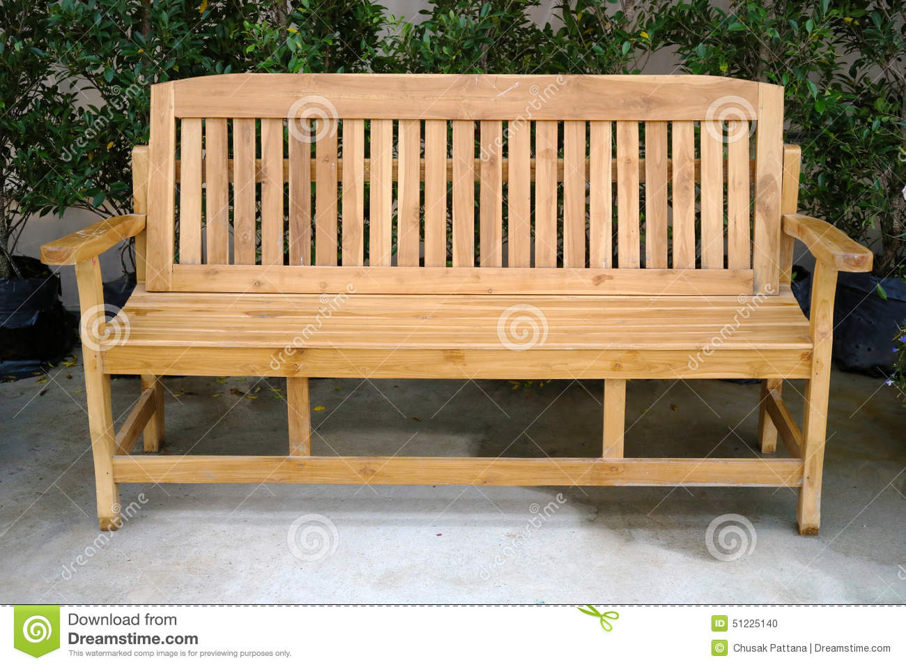 Long Wooden Chair Stock Photo Image Of Outdoor