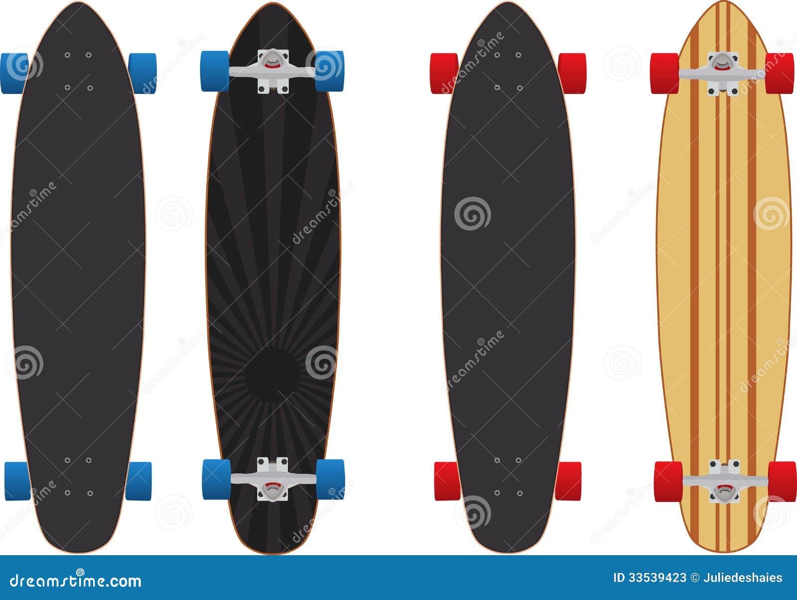 Longboard Skateboard Stock Photos - Image: 33539423