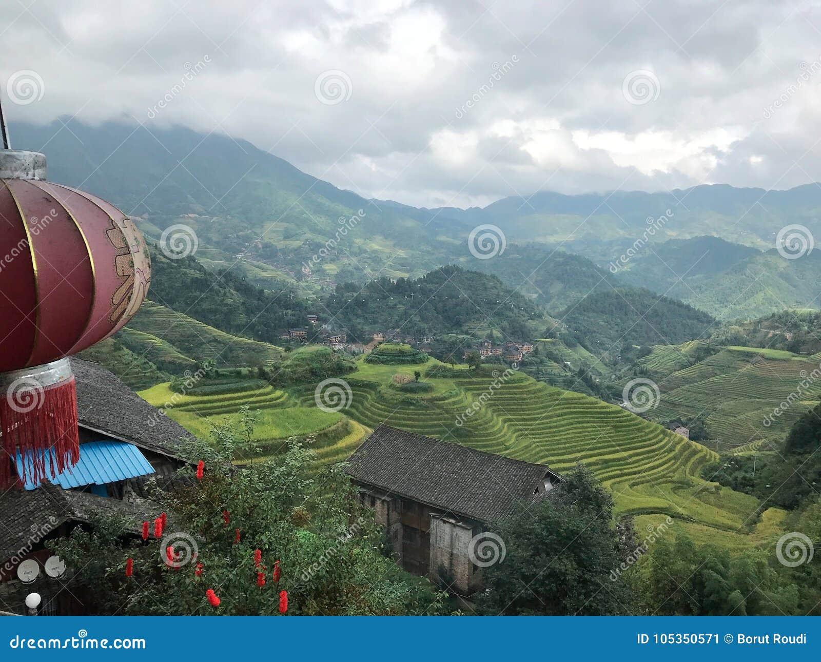 Longji terrass i Guilin, Kina