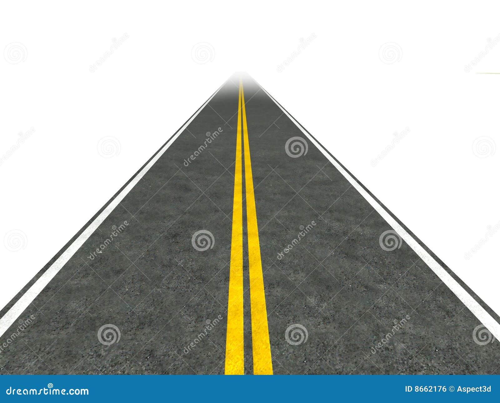 Longue route d illustration droite