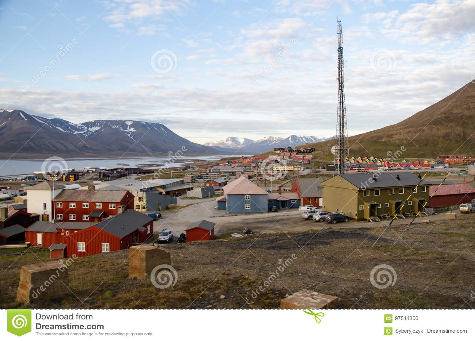Longyearbyen Spitsbergen, Svalbard, Noorwegen