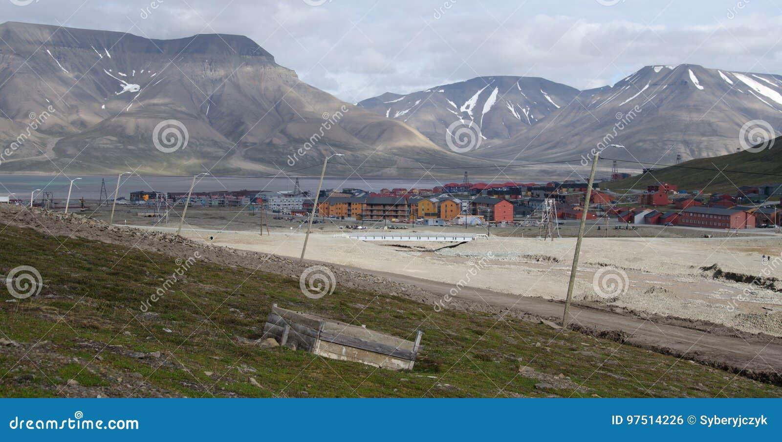Longyearbyen Spitsbergen, Svalbard, Norge