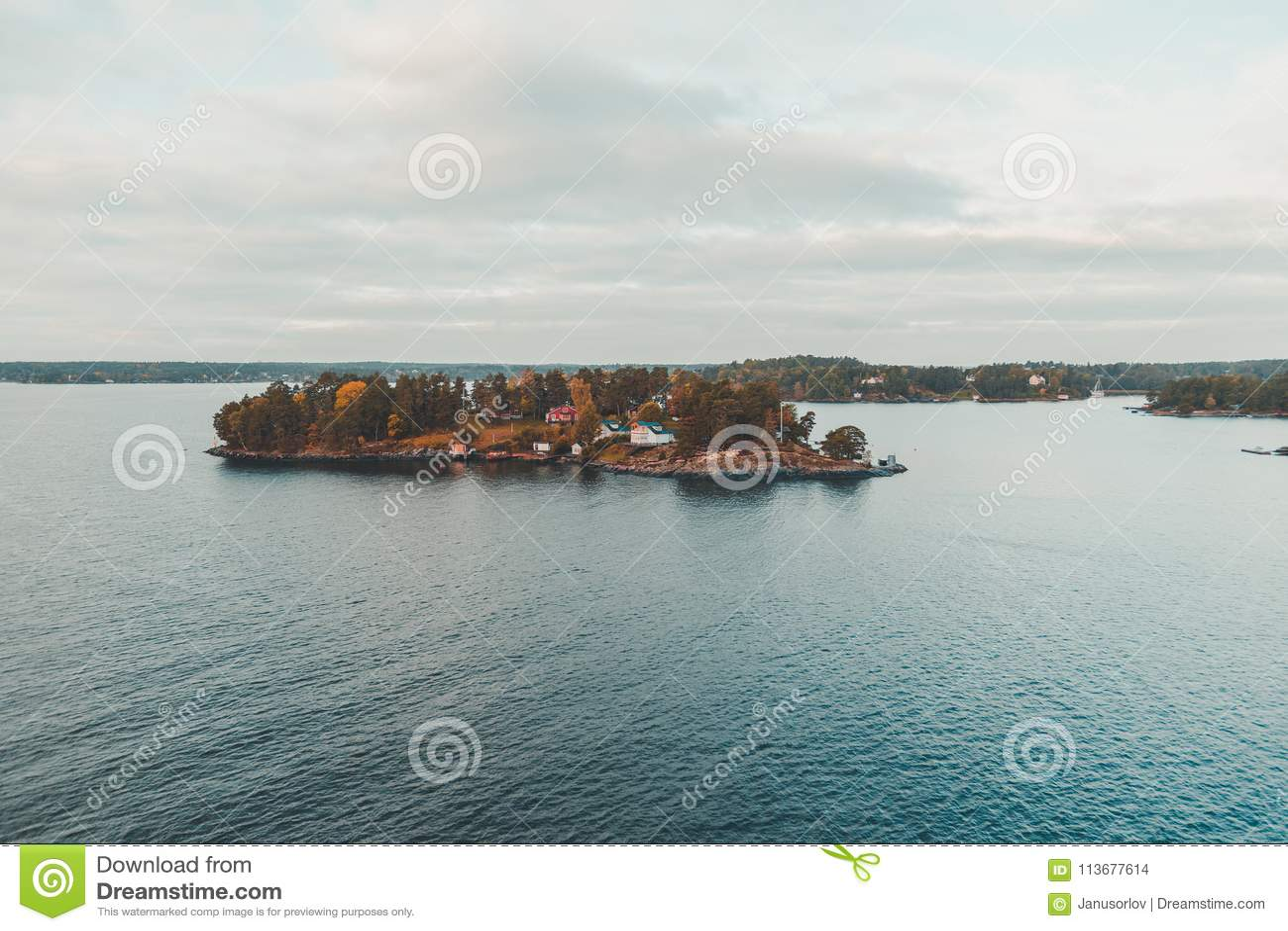 Lonna-Insel außerhalb Helsinkis