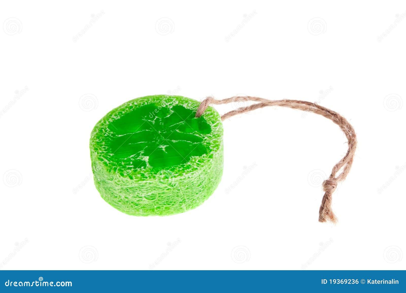 Loofah e sabão do produto dos termas