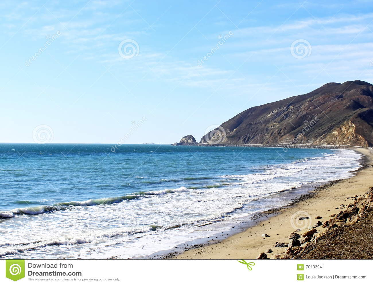 A look at the beach stock image. Image of seafoam, looking ...
