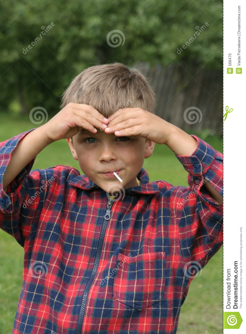 Portrait Of Beautiful Young Child Stock Photo - Image of