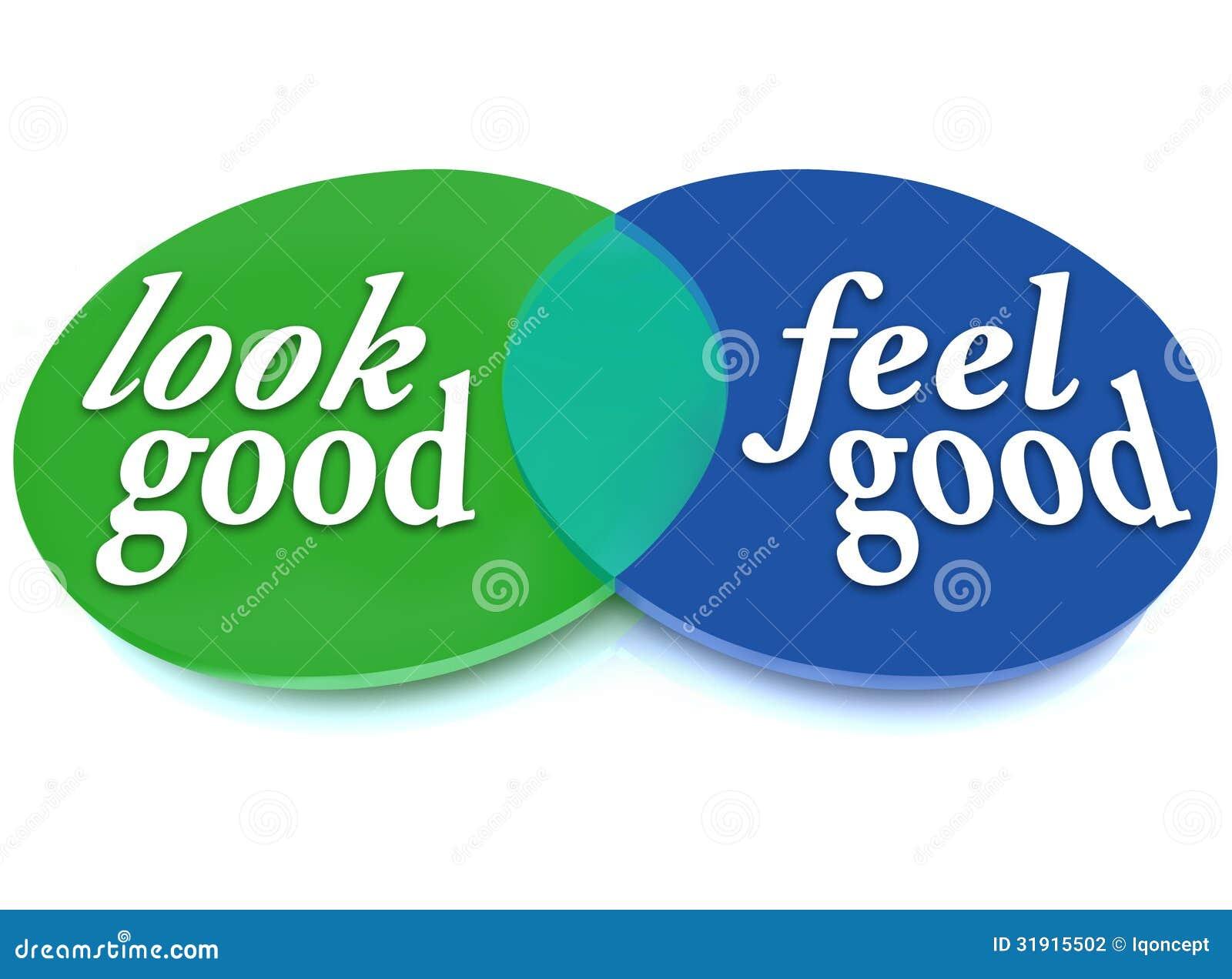 look and feel good venn diagram balance appearance vs health stock illustration illustration. Black Bedroom Furniture Sets. Home Design Ideas