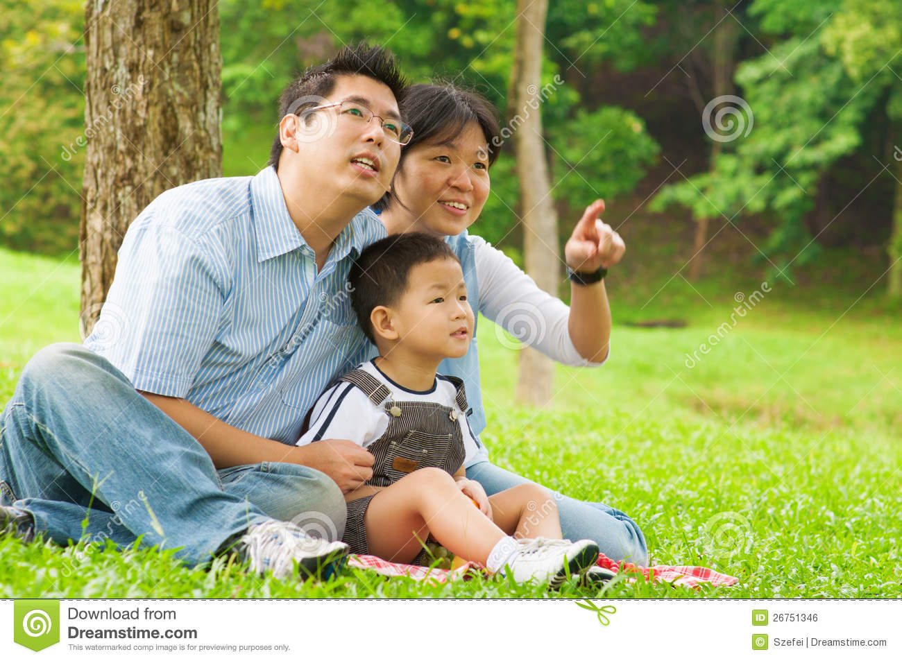 look over there stock photo image of park father