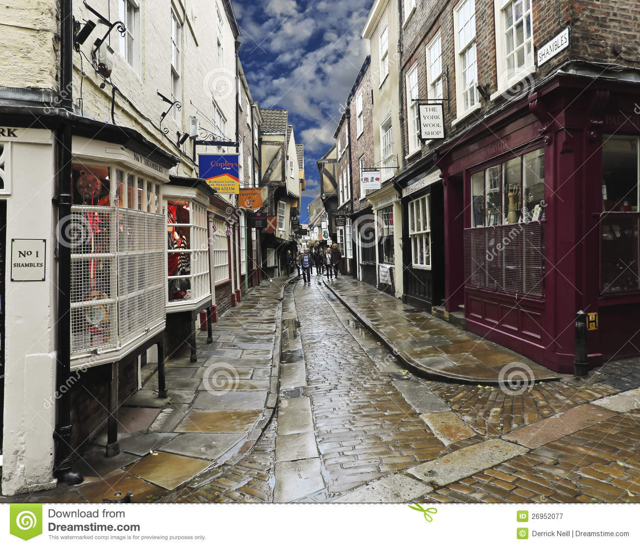 a look at the shambles york england editorial photography image