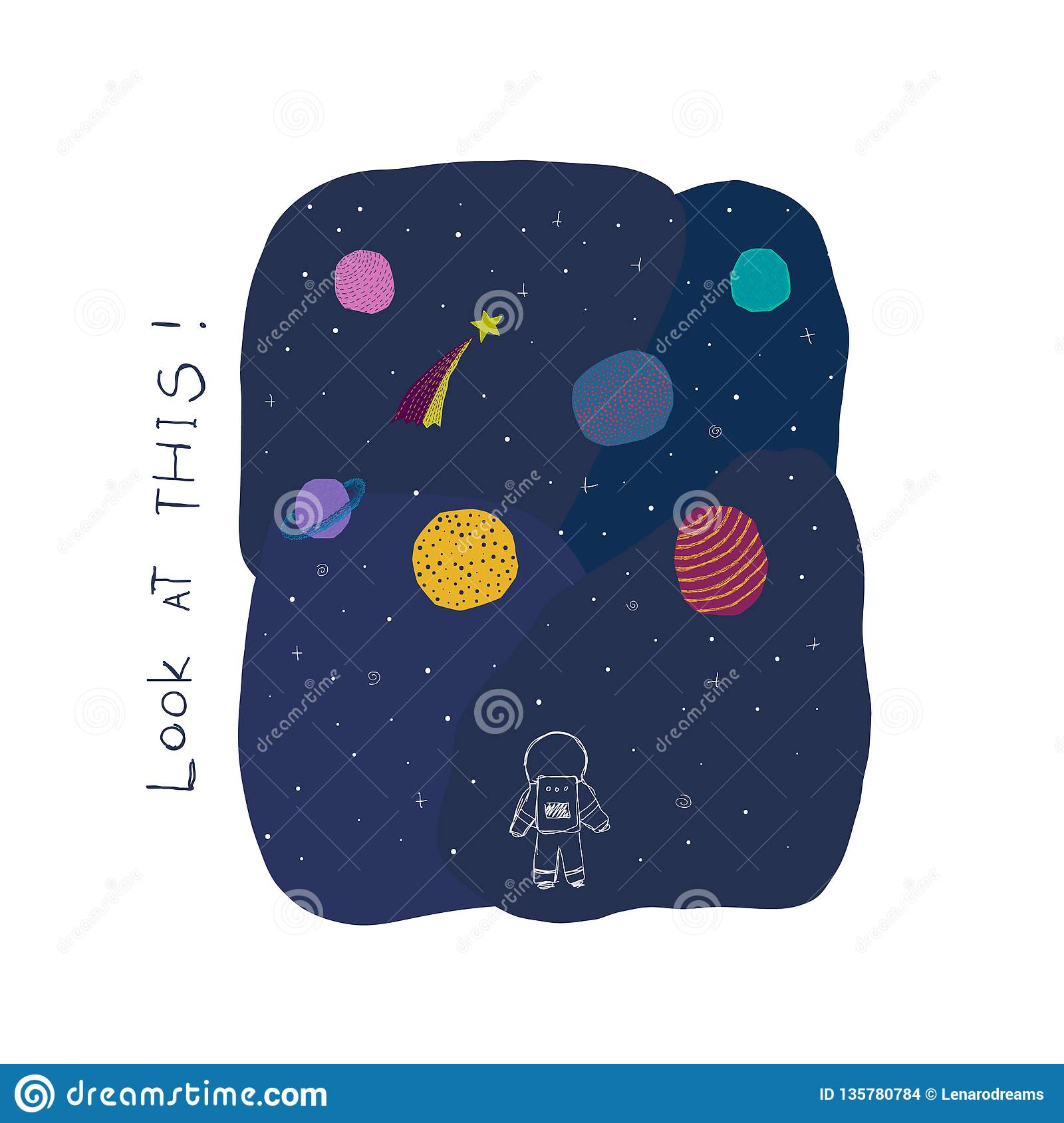 Look at this Space Planet Star card