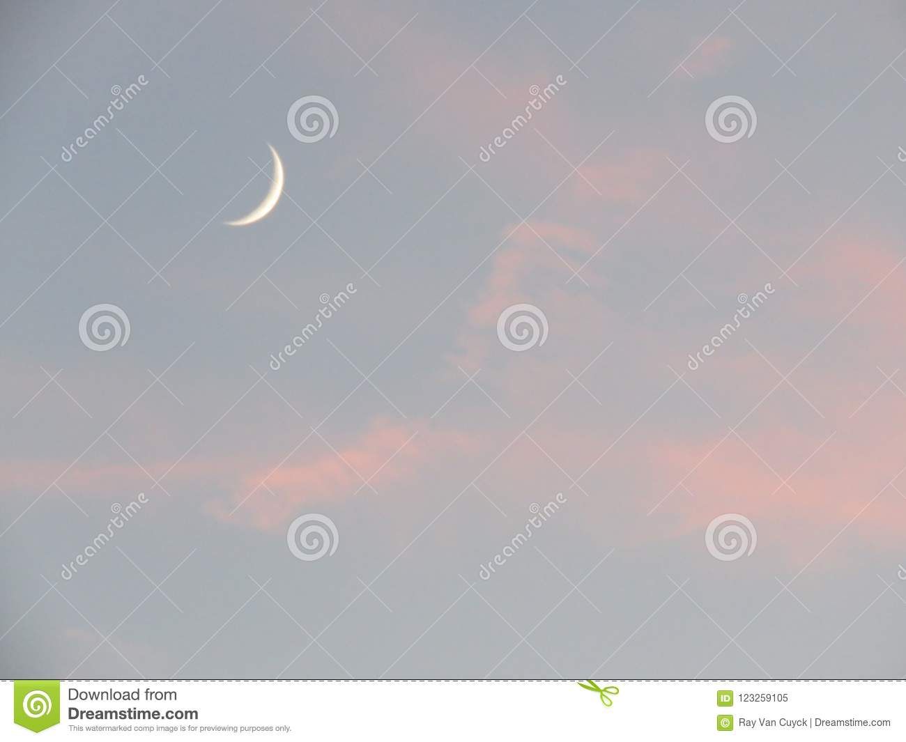 A small Cheshire cat smile moon