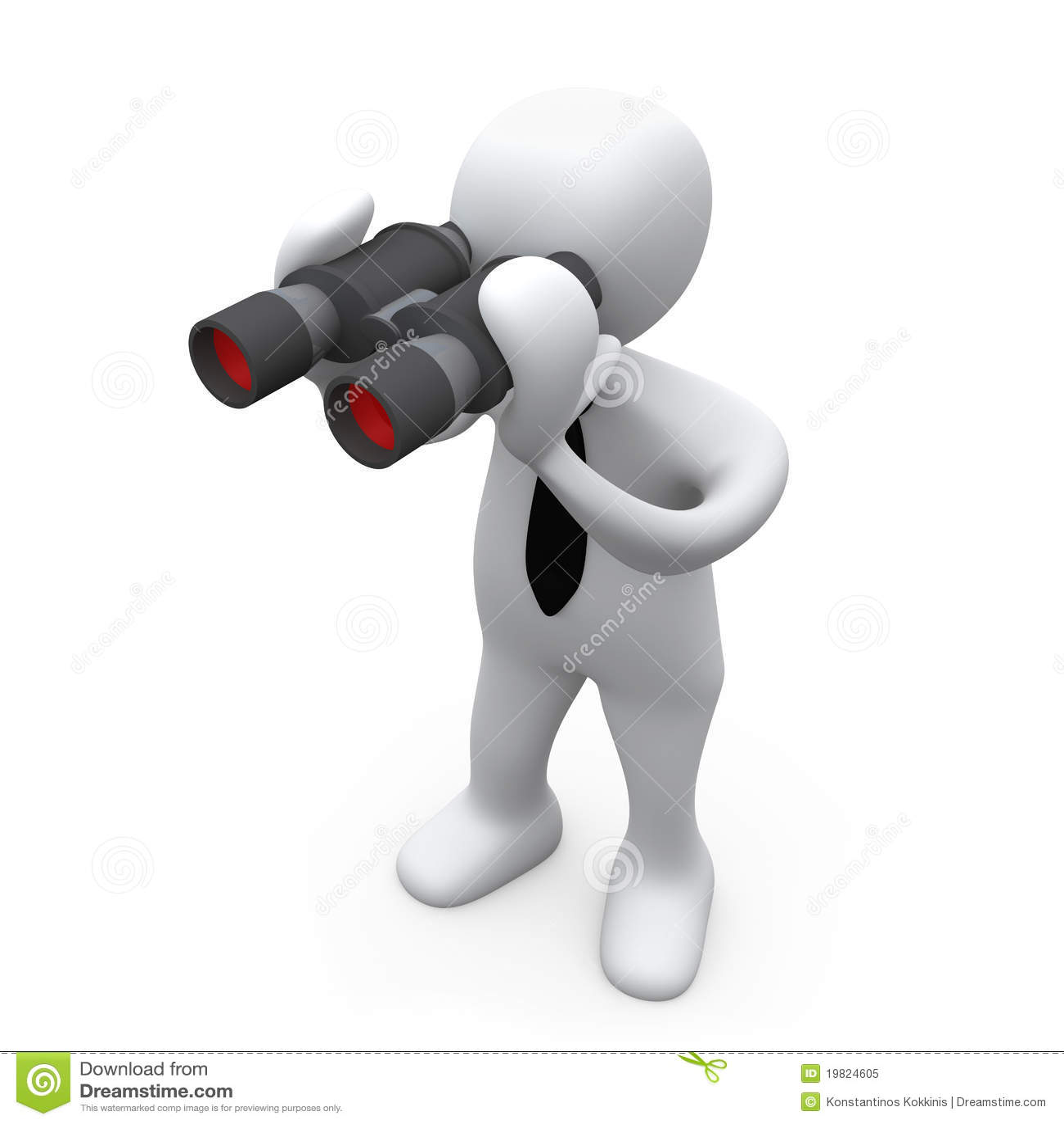 looking through binoculars stock illustration  image of exploration