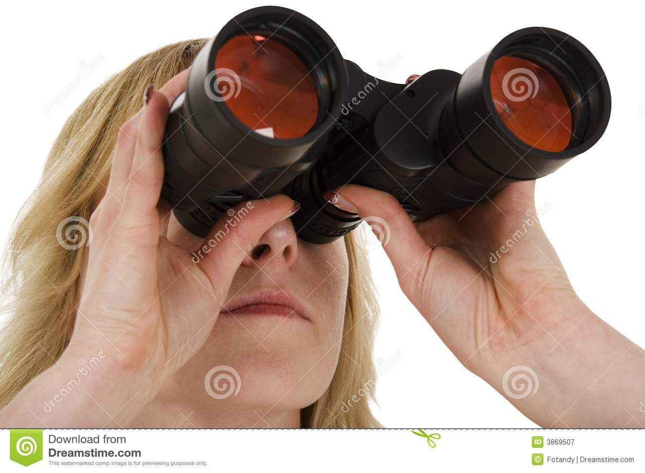 Looking Through The Binoculars Royalty Free Stock ...