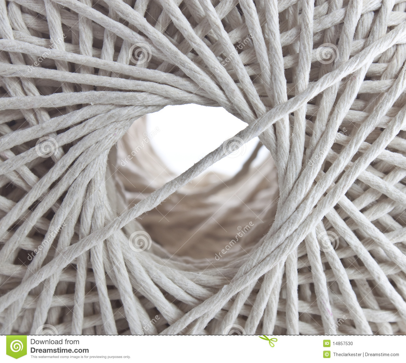 Looking through the centre of a ball of string