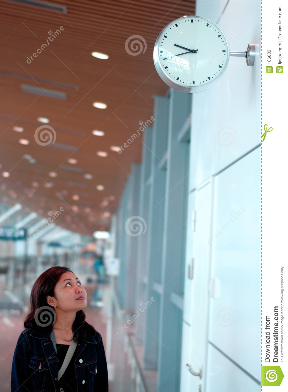 Download Looking at clock stock photo. Image of looking, airport - 106682