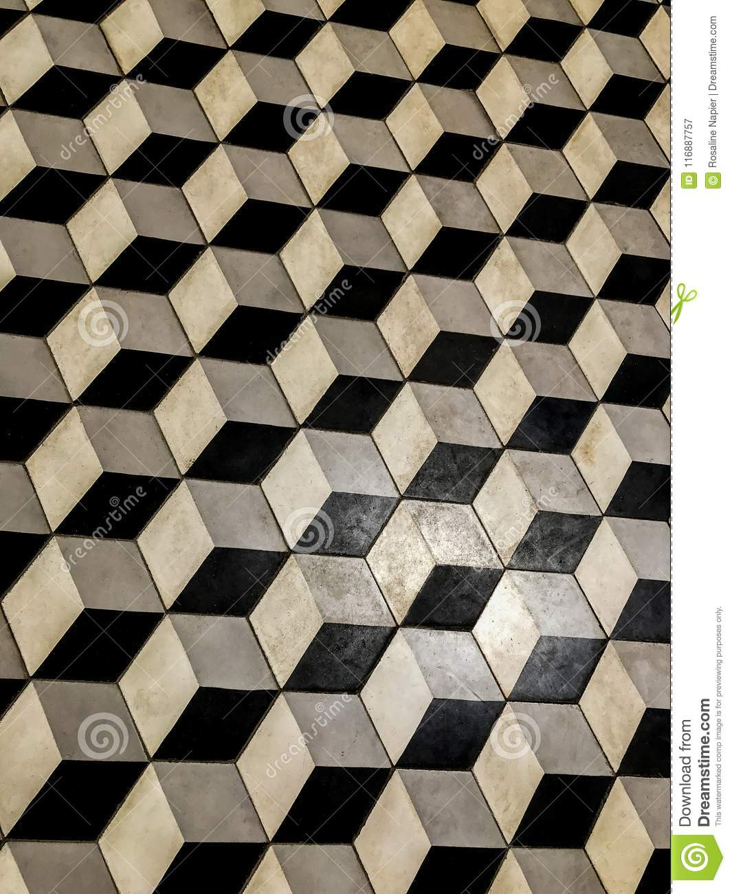 Black And White Floor Tiles Stock Image - Image of perspective ...