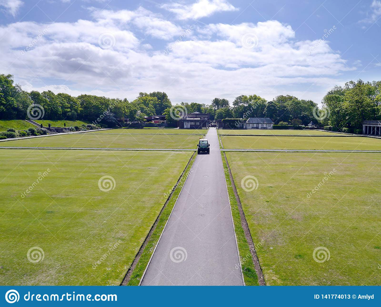 Well kept lawns for bowling