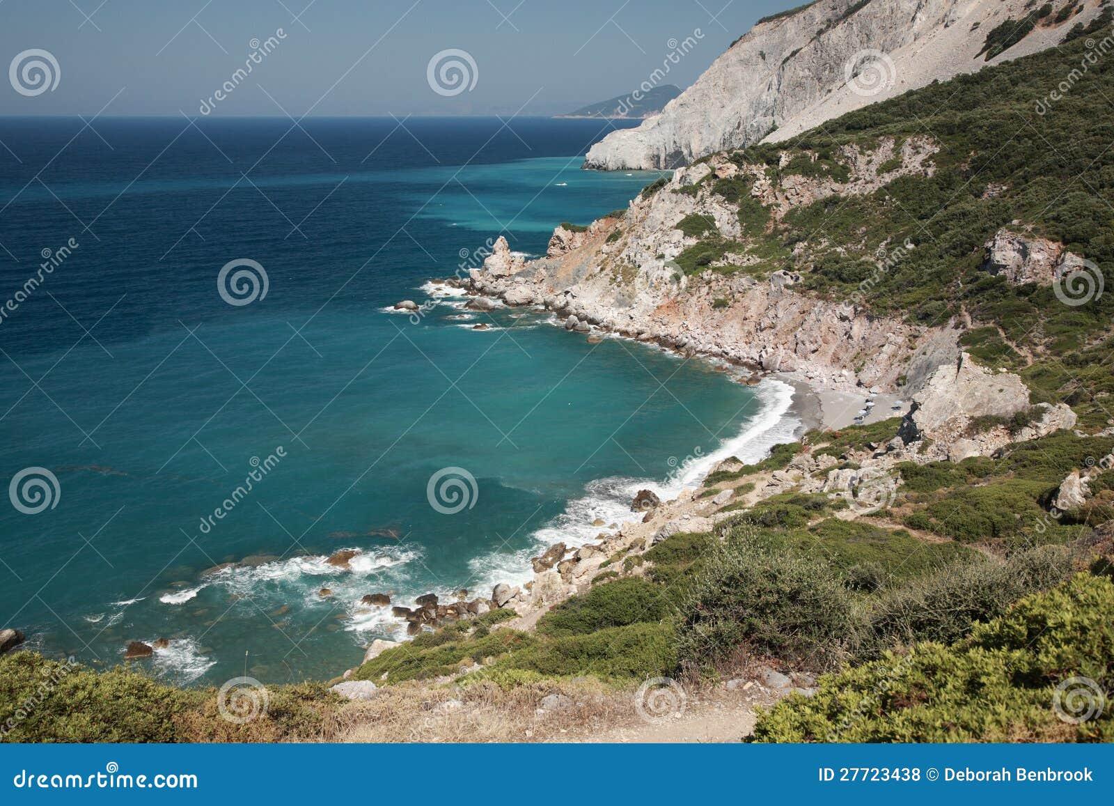Looking down onto a Skiathos beach