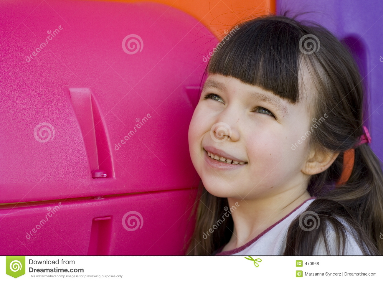 Download Looking Girl In To The Future Stock Photo - Image of lovely, child: 470968