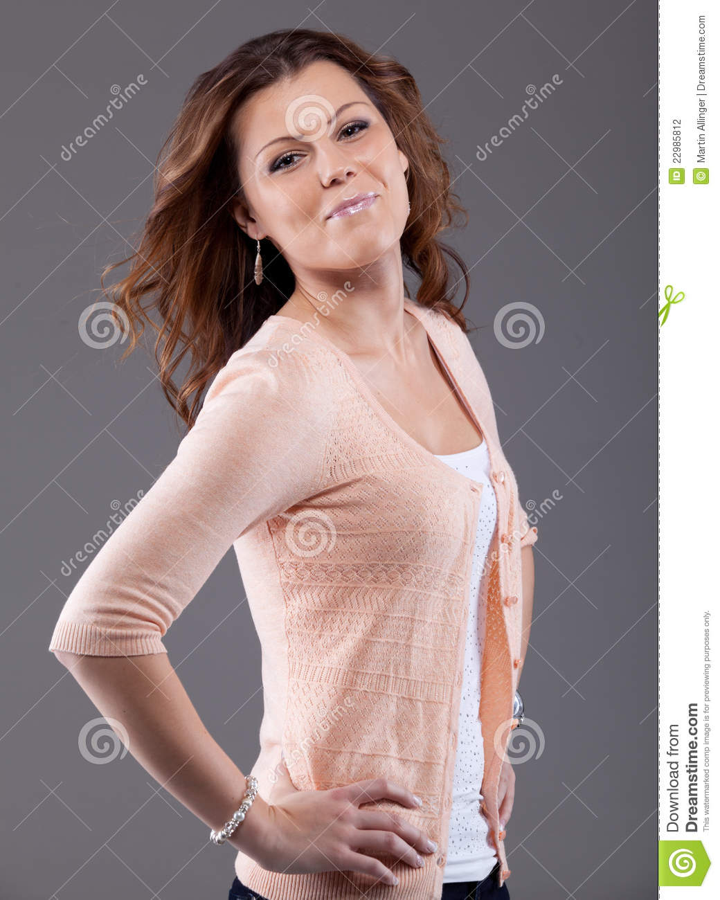 Looking Good - Very Atractive Young Woman Stock Photo