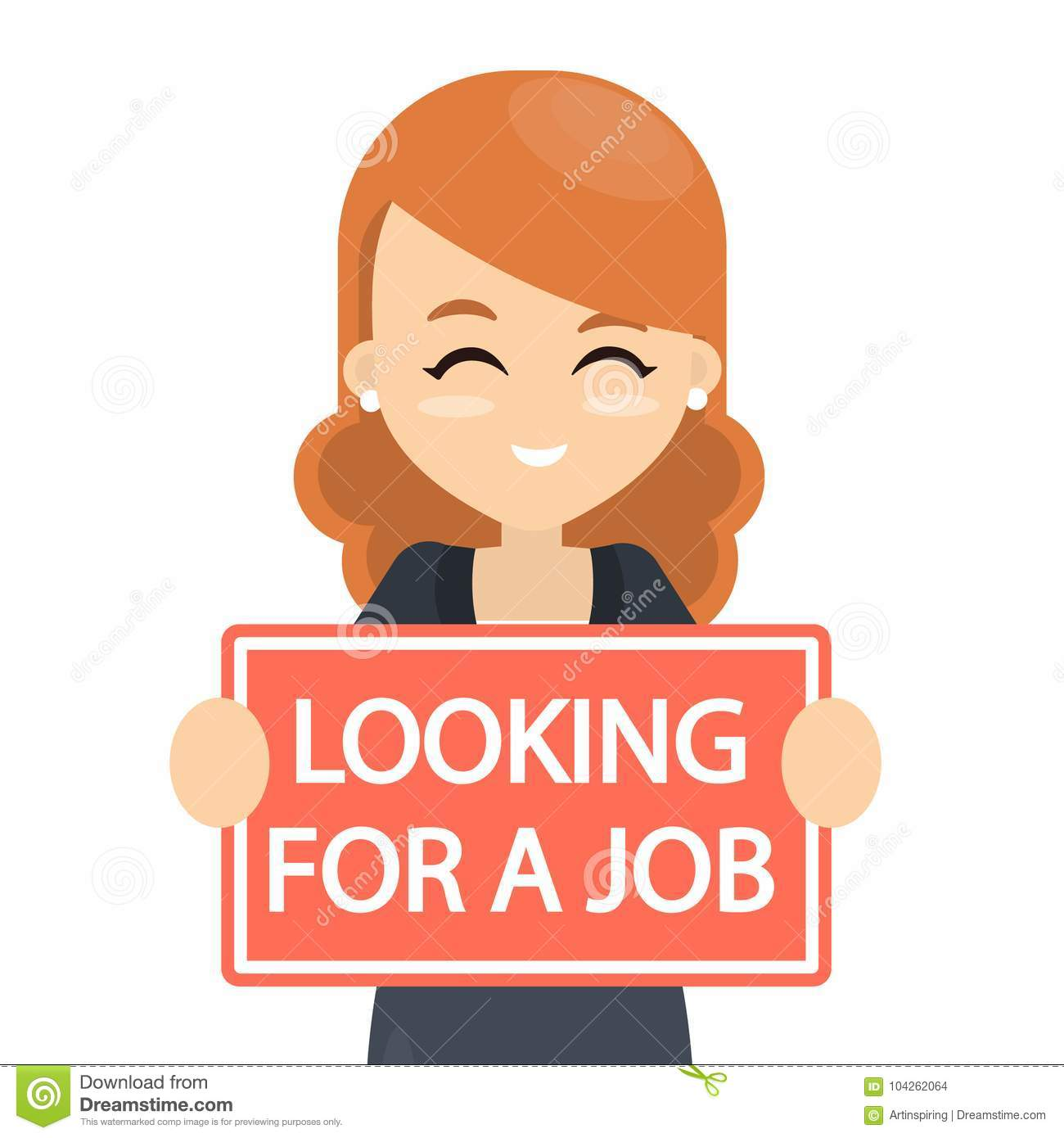 Looking For A Job Stock Vector Illustration Of Illustration