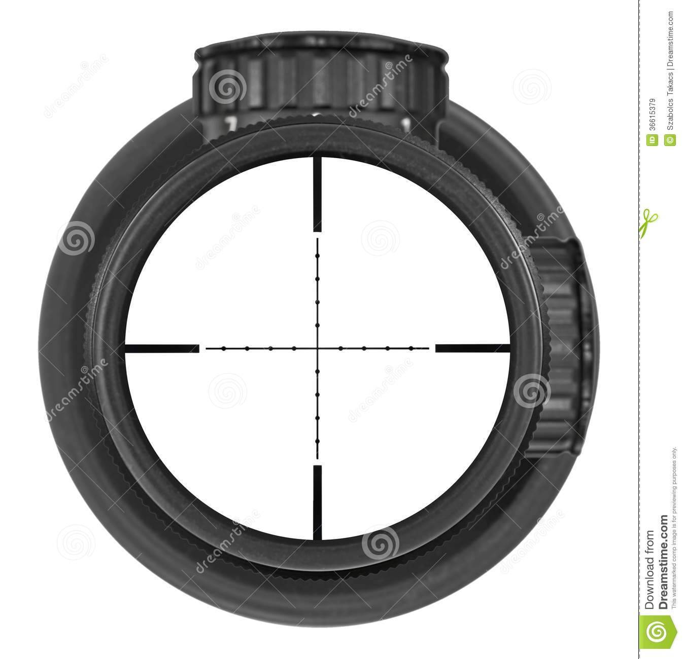 how to look through a rifle scope