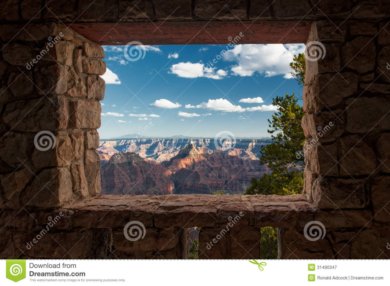 Looking Out At The Grand Canyon Stock Image - Image of heights ...