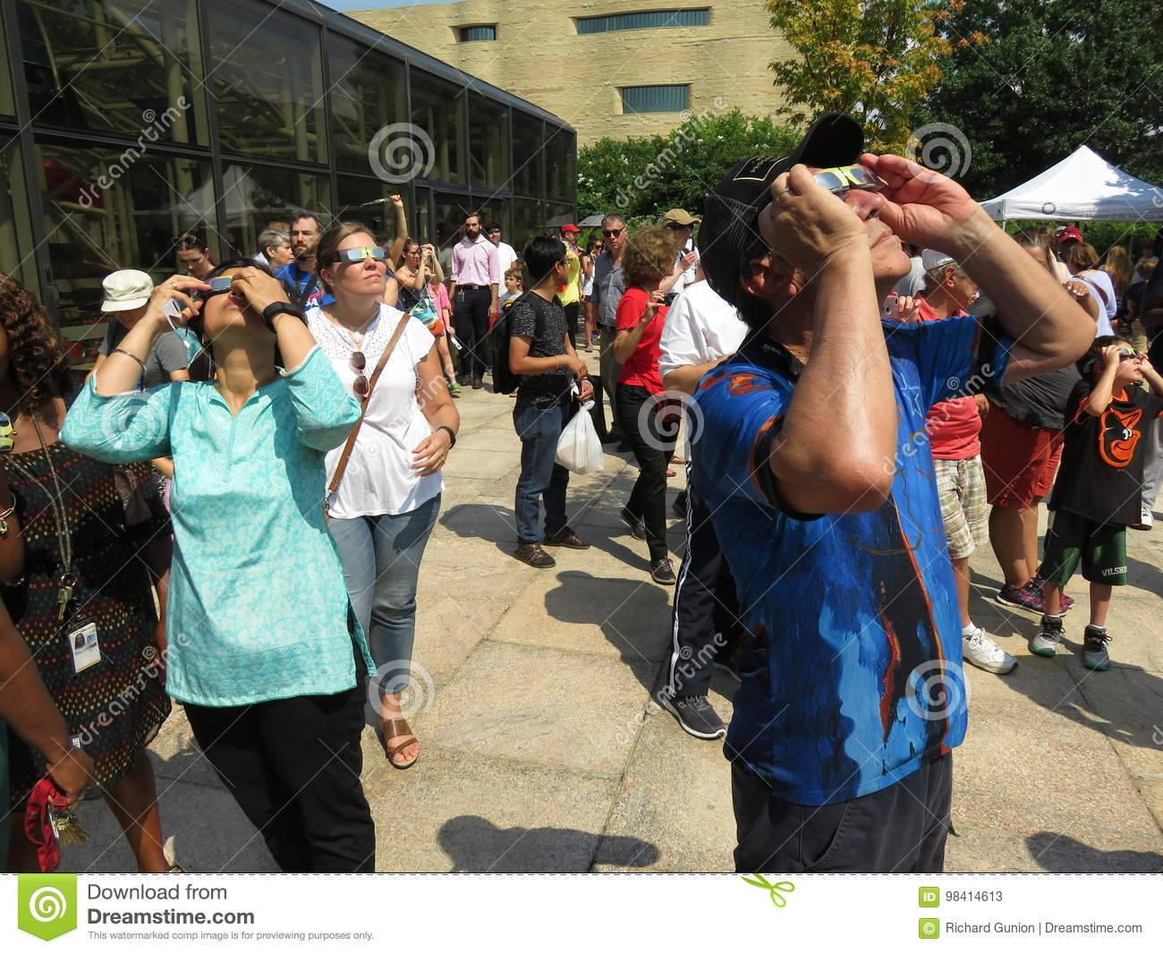 Editorial Who Is Looking Out For These >> Looking At The Partial Solar Eclipse Editorial Stock Photo Image