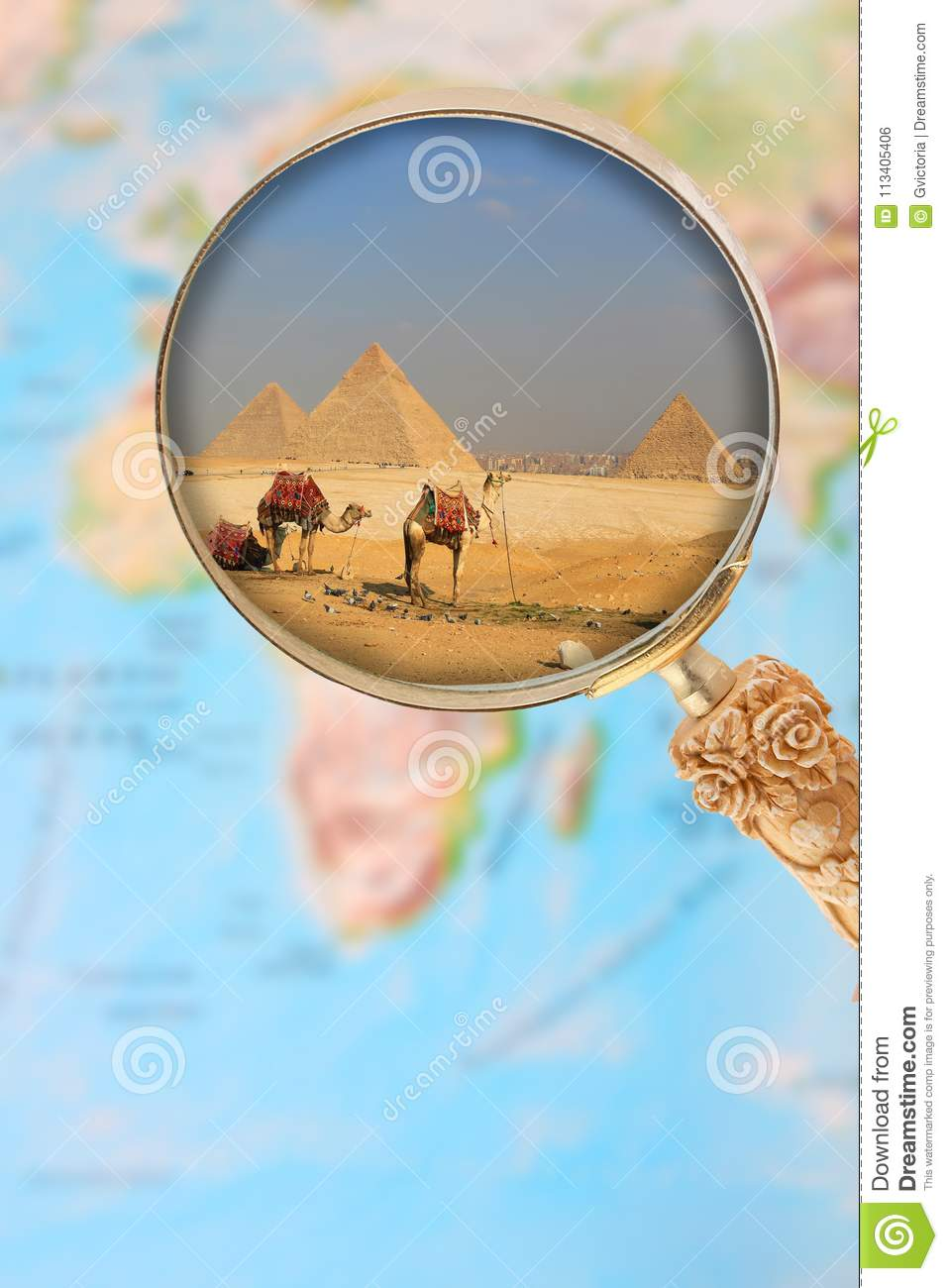 Pyramids In Egypt Map.The Pyramids Of Egypt Africa Stock Photo Image Of Menkaure Khufu