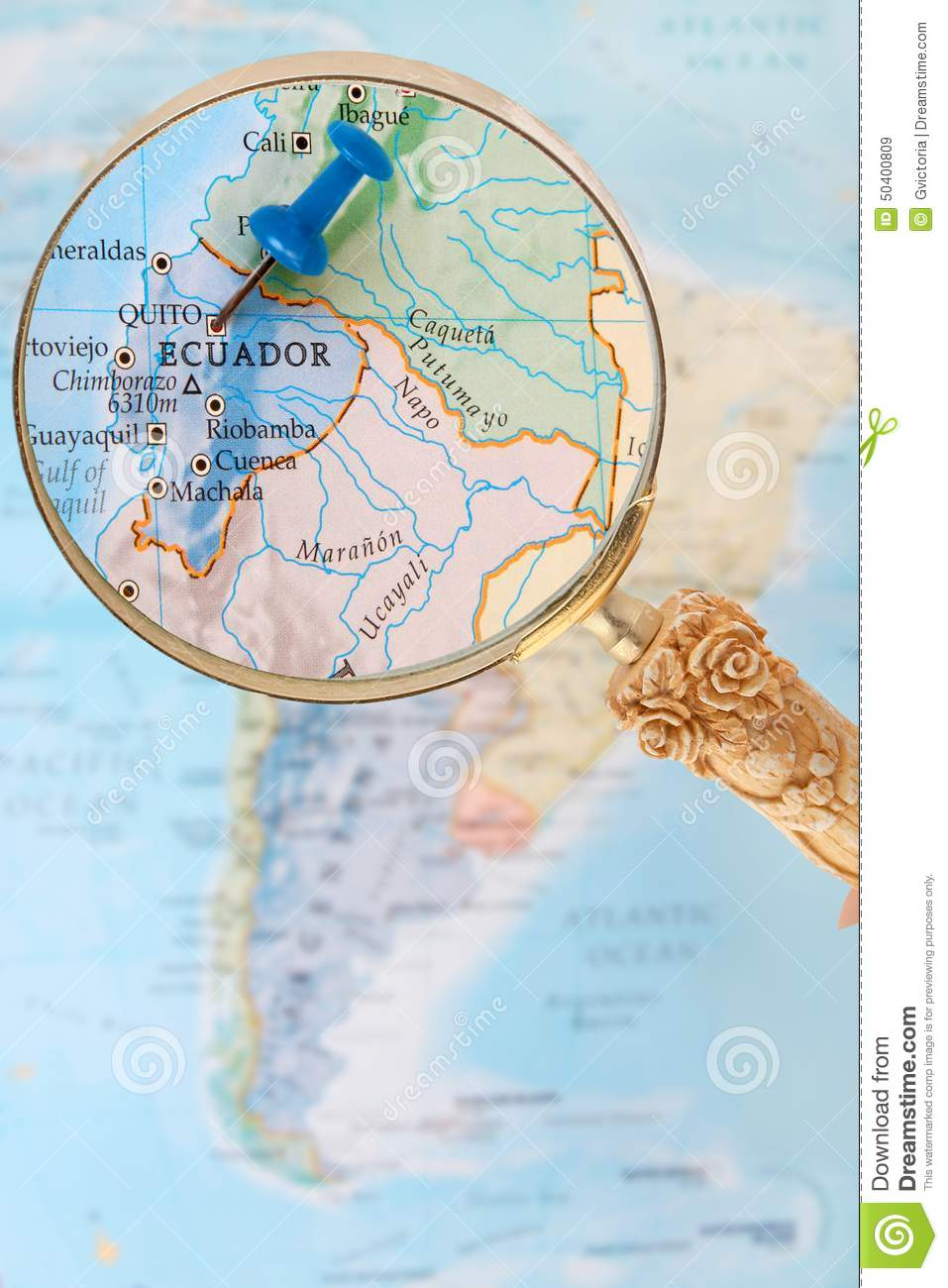 Looking In On Quito Ecuador South America Stock Photo Image - Ecuador south america map