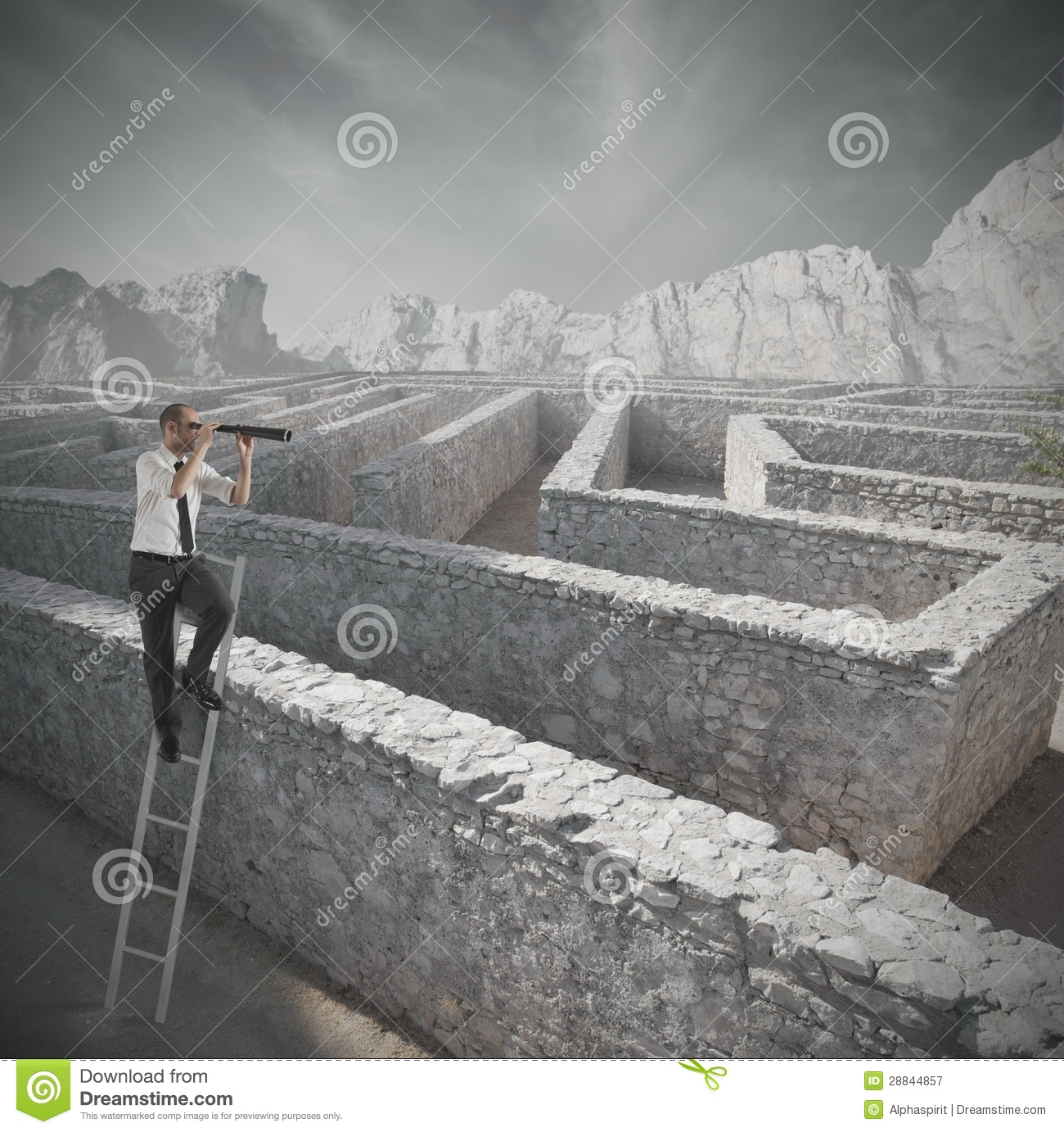 Looking for the solution to the maze