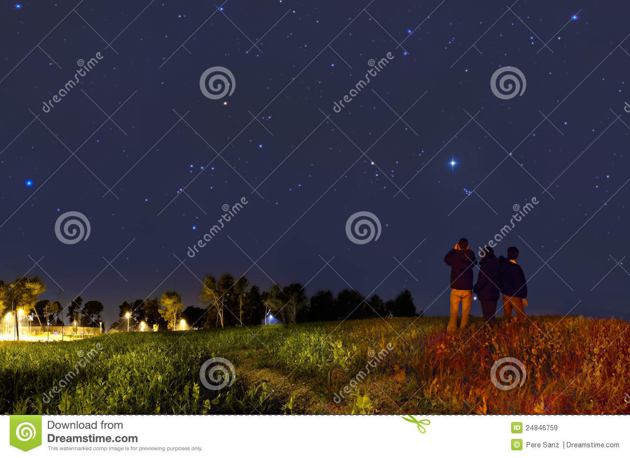 Download Looking at the stars stock image. Image of looking, night - 24846759