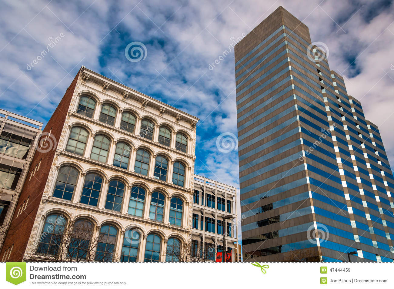 looking up at buildings on pratt street in baltimore maryland stock image image of travel. Black Bedroom Furniture Sets. Home Design Ideas