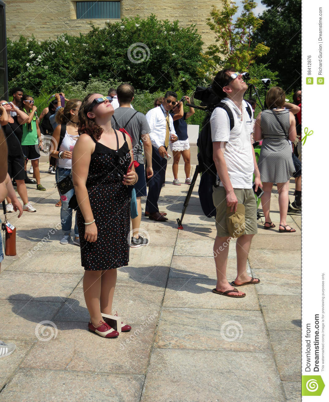 Editorial Who Is Looking Out For These >> Looking Up At The Partial Solar Eclipse Editorial Photo Image Of