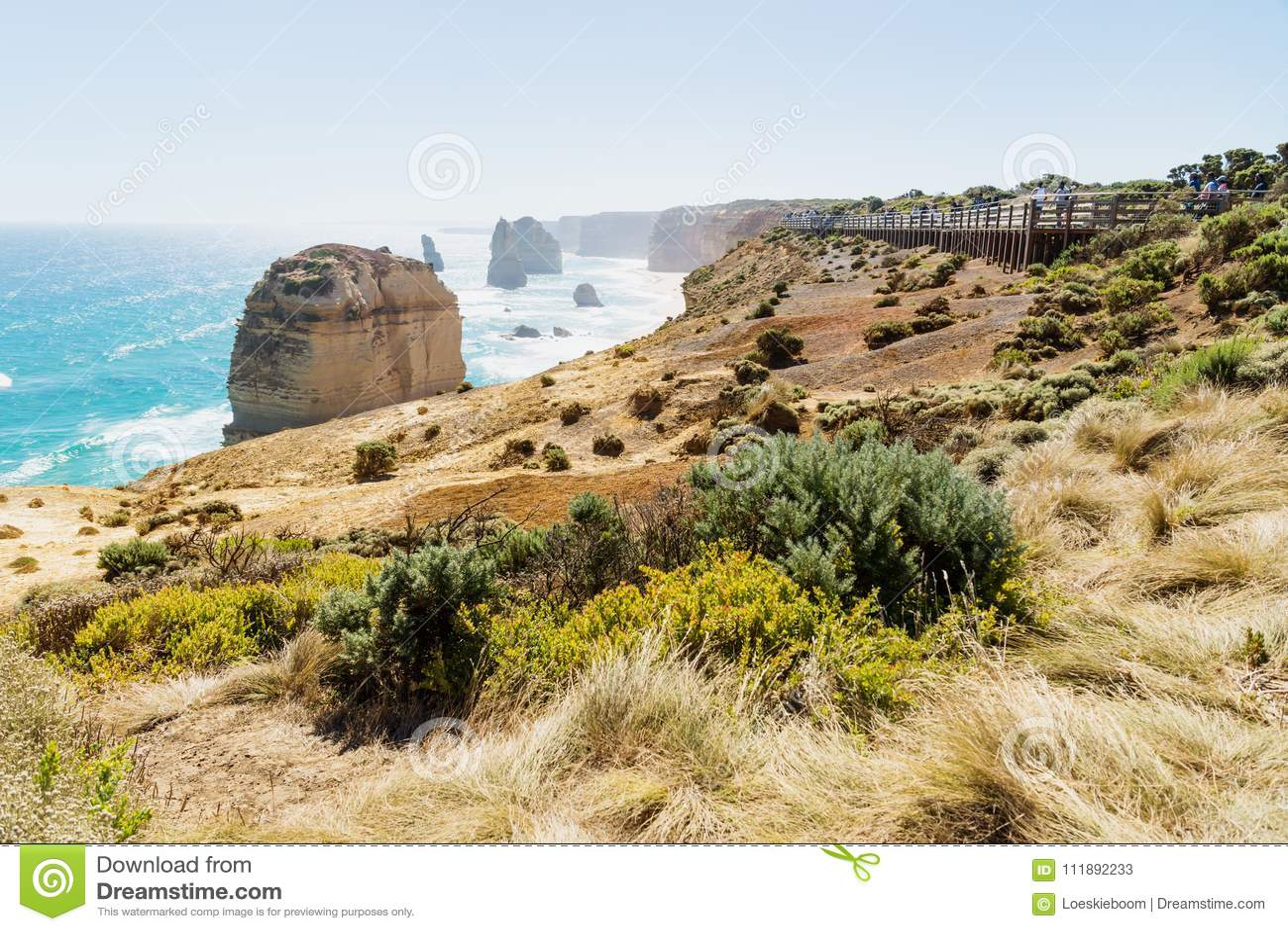 Lookout at Twelve Apostels at the Great Ocean Road, Victoria, Australia