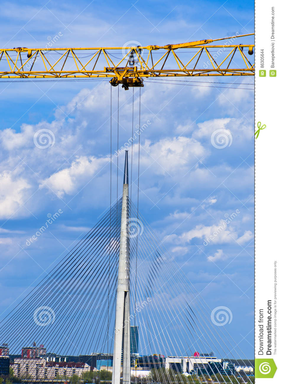 Looks like that big crane is removing cable bridge to another location in Belgrade