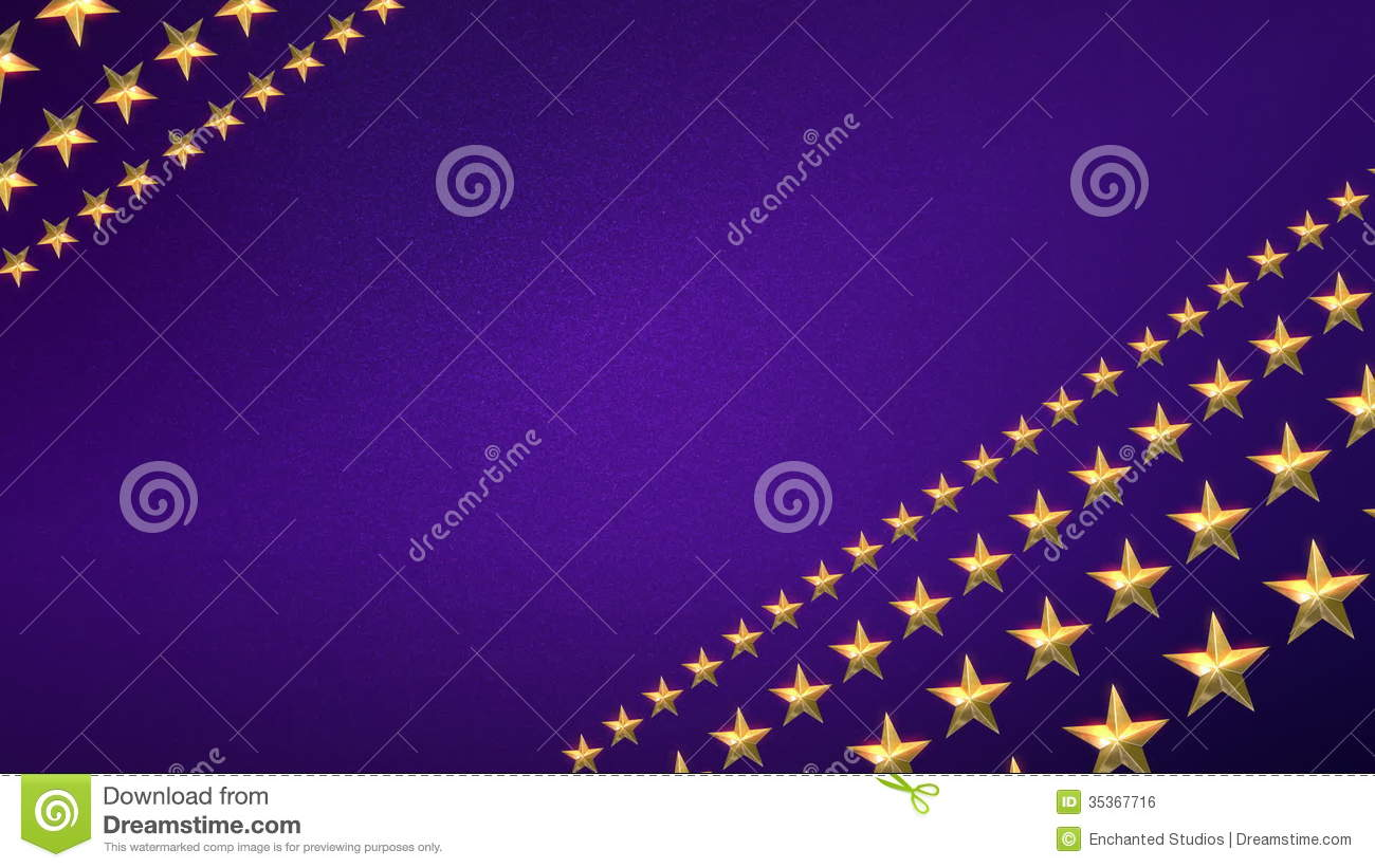 Looping Stars On Royal Purple Stock Video Footage