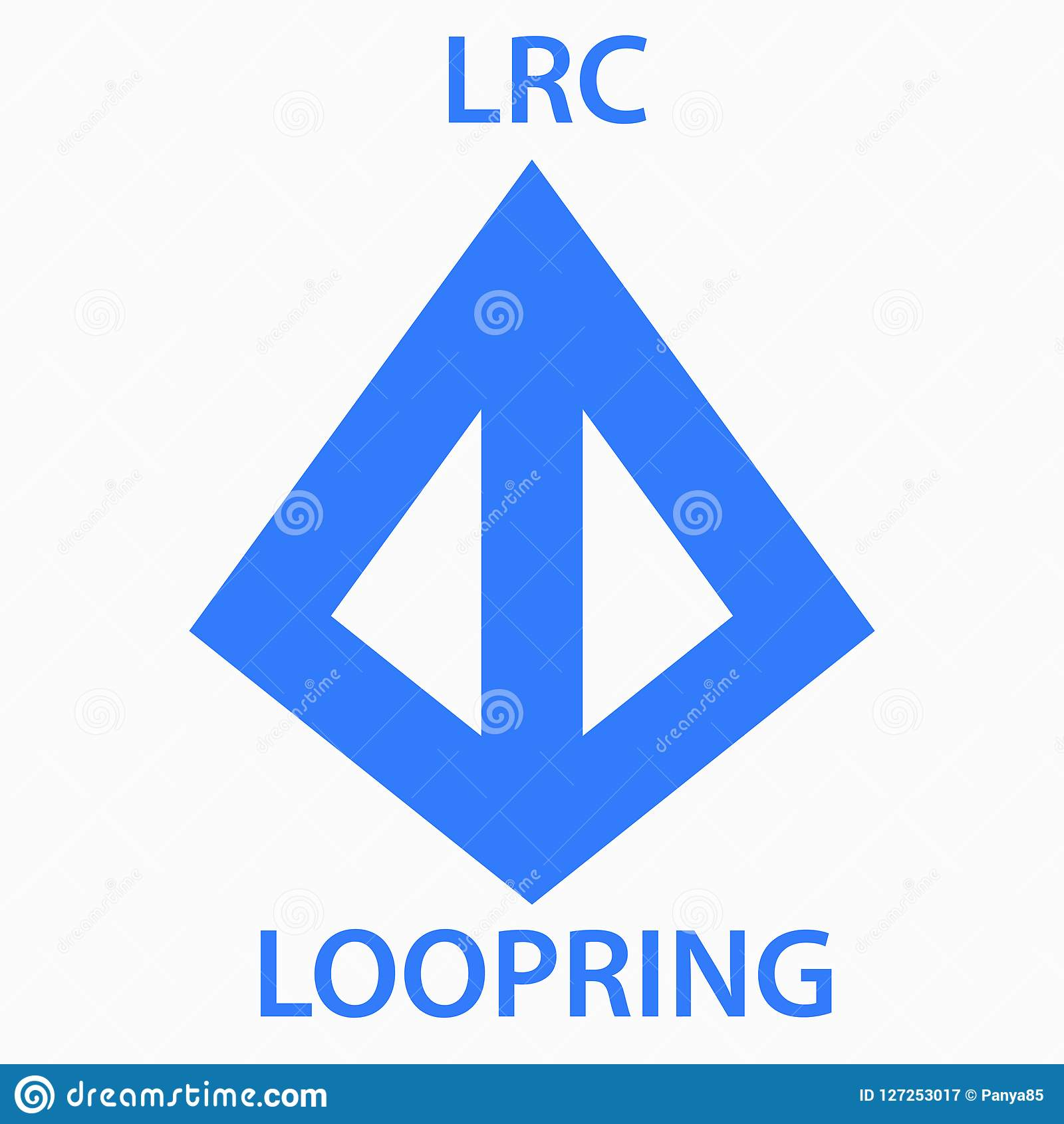 Loopring Coin Cryptocurrency Blockchain Icon. Virtual ...