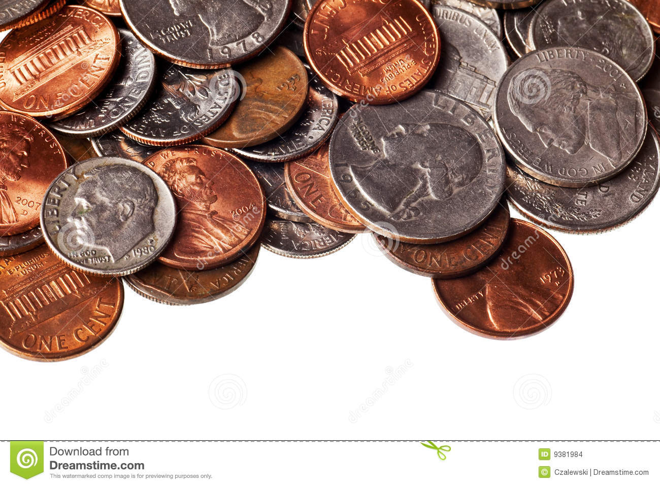 loose change stock photo  image of color  cent  change