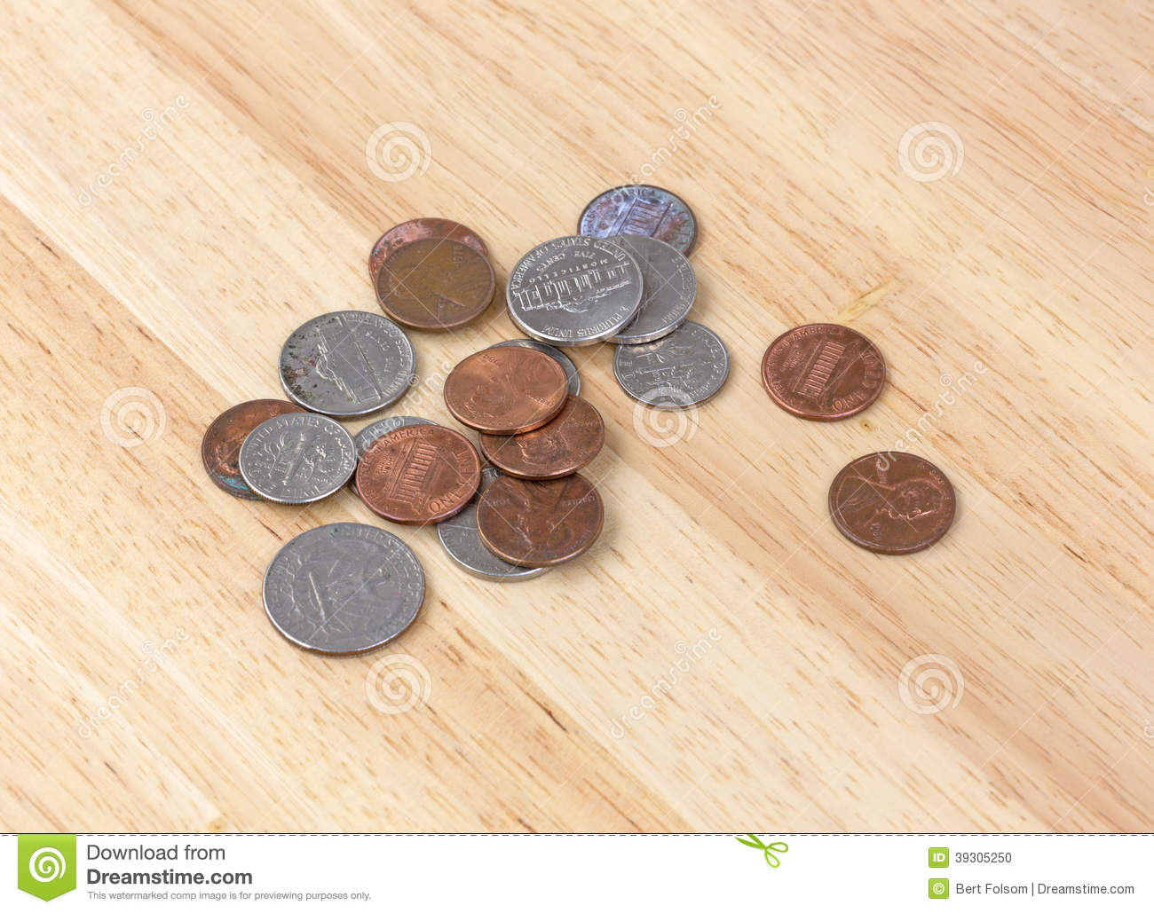 Loose change stock photo  Image of currency, tabletop - 39305250