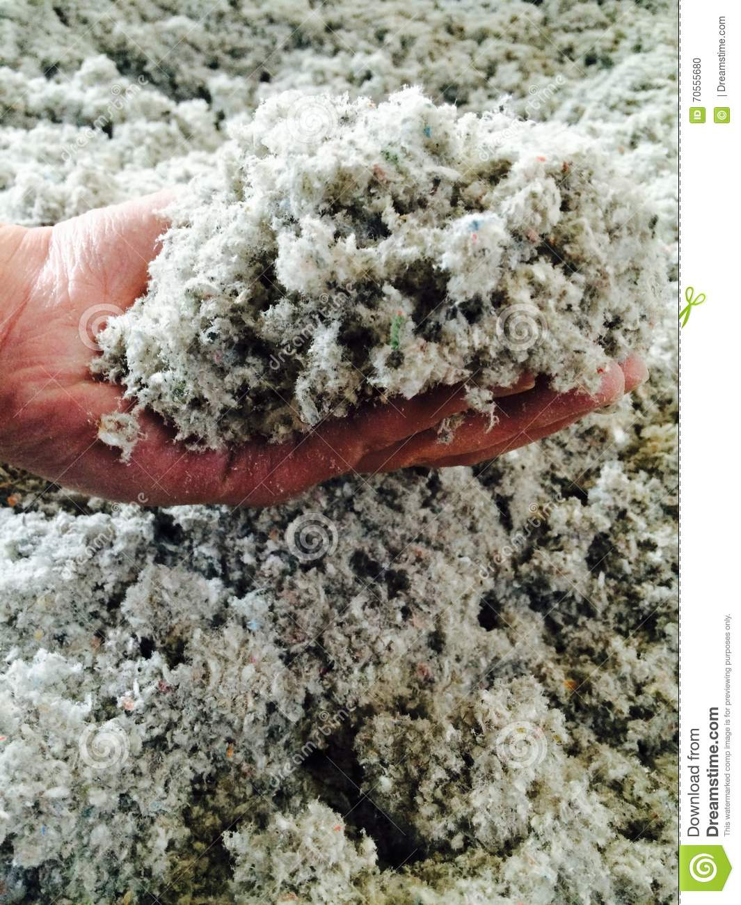 Loose Fill Cellulose Insulation Stock Photo Image 70555680